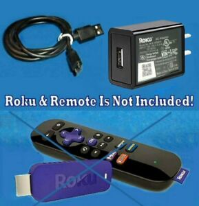Roku USB Power Adapter with 6' 3A HD 4K Micro USB Cable for Roku Streaming Stick