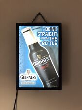 Guinness Draught Beer Advertising Lighted Box Sign Bar Sign Pub Light Man Cave