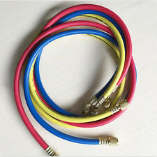 "3 color 1/4""Sae Thread A/C Refrigerant R134a Air Conditioning Charging Hoses"