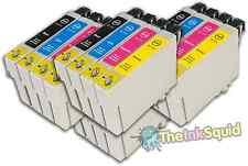 16 T0715 no-OEM Cartuchos de tinta para Epson T0711-14 Stylus DX7450 DX8400 DX8450