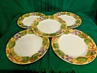 J2 - Corning Ware Corelle Tuscan Vine Dinner Plates Lot of 5