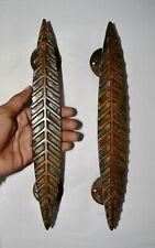 Unique Colour Leaf Door Handle Brass Handicraft Design Any Big Door Handle AR71