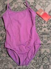 Mirella Leotard Dance Camisole Periwinkle Purple Girls 8-10 NWT