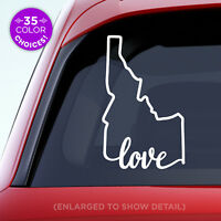 "Idaho State ""Love"" Decal - ID Love Car Vinyl Sticker - Add a heart over a city!"