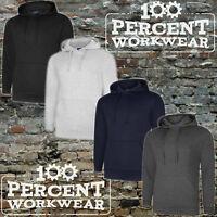Uneek Deluxe Hooded Top Sweatshirt Hoodie Hoody Quality Work Wear Plain Club Gym
