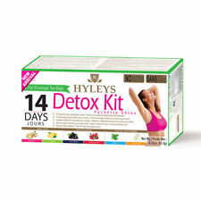 Hyleys 14 Day Detox Tea Kit Plan (Detox/ Slim/ Sleep) 6 Flavors 42 Tea Bags