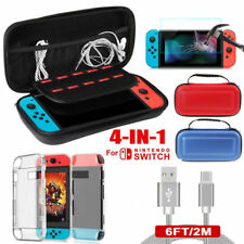 EVA Accessory Case Bag+Shell Cover+Charging Cable+Protector for Nintendo Switch
