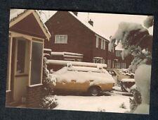 c1980s Original Photo: Estate Car Covered in Snow, UK