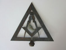1910 MASONIC Square & Compass Fraternal Order Brass Moon Pole Topper LILLEY