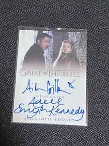 2020 Game of Thrones Aidan Gillen Adele Smyth Kennedy Dual Auto Card