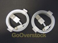 NEW Genuine Apple Lightning to USB Cable for Data Transfer / Charging - Lot of 2