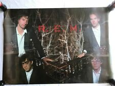 "RaRe. vintage R.E.M. Rem Fan Club Only poster 23x33"" music rock 80s 90s (1989)"