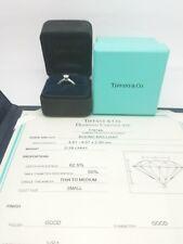 Tiffany & Co. Platinum .38 Carat Diamond Solitaire Wedding Ring & Certificate