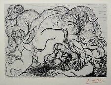 "Pablo Picasso ""Suite Vollard-Minotaure attaquant.."" 1952 Hand Signed Lithograph"