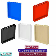 LEGO 1x6x5 Panel Wall Building Glass Hollow studs Blue Red Black Tan New