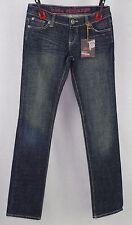 Blue Exchange Dark Slim Straight Leg Stretch Jeans Size 3
