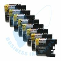 8 BK LC203XL LC201 compatible Ink Cartridges for Brother printers with NEW CHIP