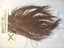 HOFFMAN SUPER SADDLE SIGNATURE GRADE DK DUN WHITING FARMS FLY TYING FEATHERS X