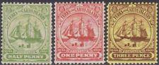 FULL SET Turks & Caicos Islands 1905-08 Definitive 1/2d-3d MH Stamps SG110/112