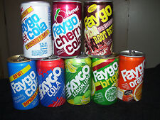 Faygo Soda Can Collection~8 Vintage Soda Can Lot~Aluminum~Detroit~Soda Pop Cans