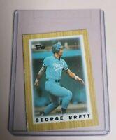 1987 Topps Mini Leaders Baseball Card #57 George Brett - Kansas City Royals
