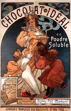 Alphonse MUCHA ART Chocolate advertising poster canvas print, art nouveau