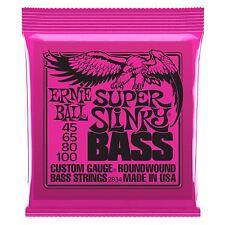 Ernie Ball Super Slinky Níquel Herida bajo eléctrico guitarra, cuerdas de calibre 45-100
