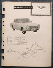 FORD TAUNUS 12 M Girling Voiture Freins Données Guide 1962