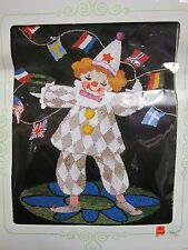 Matsuhato BUNKA Kit Punch CLOWN & AN ARRAY OF FLAGS  Punch Needle Embroidery KIT