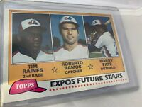 1981 Topps Tim Raines Rookie! Amazing!  #479 Baseball Card - Montreal Expos