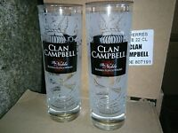Clan Campbell Campbell's whiskey WHISKY 6 Verres tubes 22 cl NEUF givré