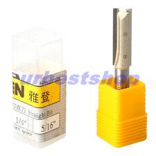 New Router Bits Straight Bit 1/4 Shank 5/16 Blade Tungsten Carbide 2 Flutes