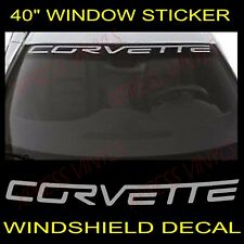 "Chevy Corvette Windshield Vinyl Decal Sticker Custom 40"" Vehicle Logo SILVER"