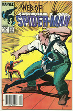 Web of Spider-man #9 FN/VF Dec 1985 black suit death Fred Hopkins Geof Isherwood