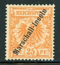 Marshall Islands MH Selections: Scott #5 25pf Orange (1897) CV$140+