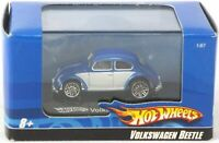 Hot Wheels Diecast Blue and White Beetle Bug with Case