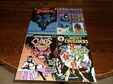 Four #1's         Sabre#1MrsTree#1,MightyCrusaders#1,Chaos#1