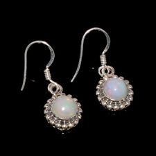 NATURAL ETHIOPIAN OPAL 925 STERLING SILVER BEAUTIFUL EARRINGS OBI4395
