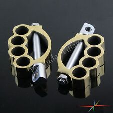 Control Foot Pegs Set For Harley Davidson Sportster Softail Dyna Touring Brass
