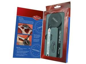 Faithfull Mitre Saw Protractor Angle Finder Goniometer Arm Scale Ruler Gauge