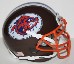 The Waterboy Mud Dogs Mini Helmet with Metal Face Mask