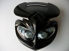Alien Black Headlight Streetfighter Custom Motorcycle GSXR ZXR GSF SUZUKI hornet