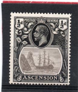 Ascension GV  1924-33  1/2d grey-black & black sg 10 VLH.Mint
