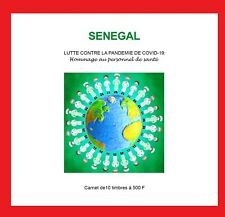 SENEGAL 2020 - BOOKLET 10V 500F - JOINT ISSUE - STRUGGLE AGAINST PANDEMIC - MNH