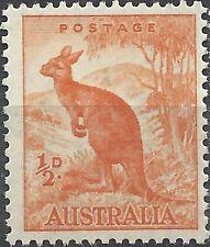 Australia 1942 ½d Orange KANGAROO(CofA Wmk, perf 15x14) Unhinged Mint, SG 179