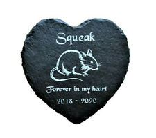 Personalised Engraved Slate Heart Pet Memorial Grave Marker Plaque Pet Mouse