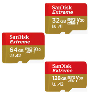 SanDisk Extreme Micro SD XC Card 32GB 64GB 128GB Class 10 Memory Card 160MB/s
