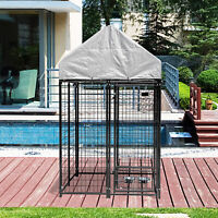 4' x 4' x 5.5' Outdoor Heavy Duty Dog Run Kennel Cage Playpen w/ Anti-UV Cover