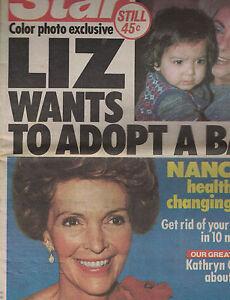 The Star January 18 1983 LIz Taylor Nancy Reagan Bing Crosby Grace Kelly