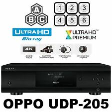 OPPO UDP-205 MULTI-CODE REGION-FREE 4K ULTRA-HD BLU-RAY DVD PLAYER NEW DIGITAL